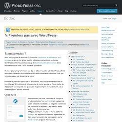 Premiers pas avec WordPress