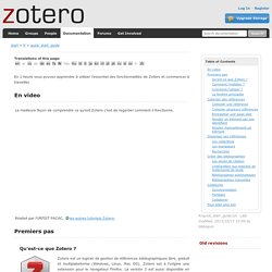 Zotero Quick start guide