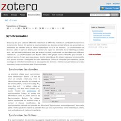 fr:sync [Zotero Documentation]