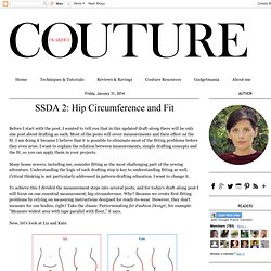Frabjous Couture: SSDA 2: Hip Circumference and Fit