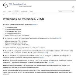 Problemas de fracciones. 2ESO