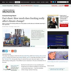 Fact sheet: How much does fracking really affect climate change?