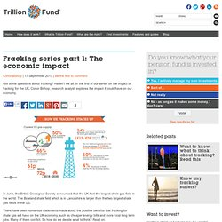 Fracking series part 1: The economic impact