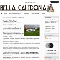 Fracking Fail in Falkirk