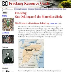 Fracking Resource Guide