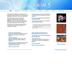 Ultra Fractal: Advanced Fractal Animation Software