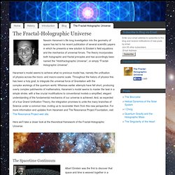 The Fractal-Holographic Universe - Fractal-Holographic Universe