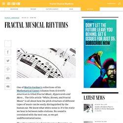 Fractal Musical Rhythms