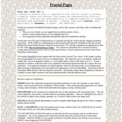 Fractal Pages of Paul N. Lee