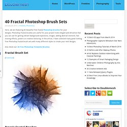 40 Fractal Photoshop Brush Sets