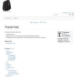 Fractal tree - Rosetta Code