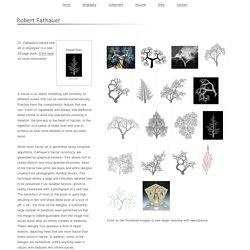 The Fractal Trees Art of Robert Fathauer