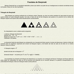 FRACTALES DE SIERPINSKI -Fractales