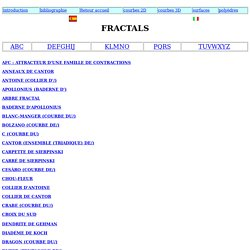 Mathcurve - Fractals