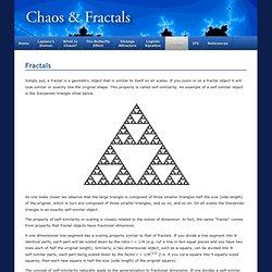 Fractals - Chaos & Fractals