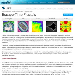 Escape Time Fractals - New Features in Maple 18 – Maplesoft