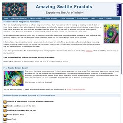 Amazing Seattle Fractals - Fractal Software Programs & Fractal Generators<