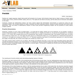 Fractals (VLab: Virtual Complexity Lab)