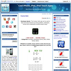Cool iPhone, iPad and iPod Touch Apps: Fraction Math