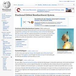 Fractional Orbital Bombardment System