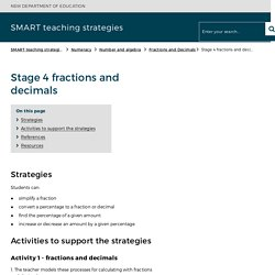 Stage 4 fractions and decimals