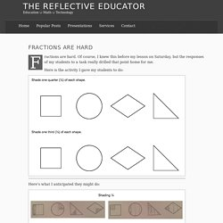 Fractions are hard – The Reflective Educator