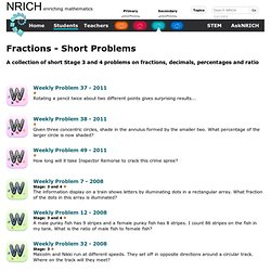 Fractions - Short Problems