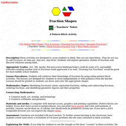 Fractions- Teachers' Notes