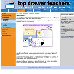 Cake fractions / Activities / Fractions / Topdrawer / Home - Topdrawer