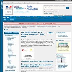Les jeunes off-line et la fracture numérique : étude belge — Enseigner avec le numérique