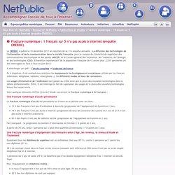 Fracture numérique : 1 français sur 5 n'a pas accès à Internet (enquête CREDOC)