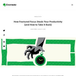 How Fractured Focus Steals Your Productivity (and How to Take it Back) Productivity Thieves, Part 1/4