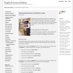 Frageanhängsel (Question tags) - Englisch Lernen Online