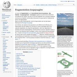 Fragmentation écopaysagère