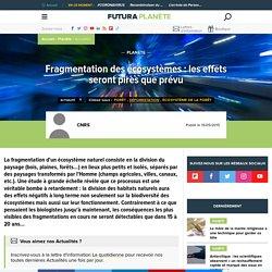 ARTICLE=Fragmentation des écosystèmes : les effets seront pires que prévu