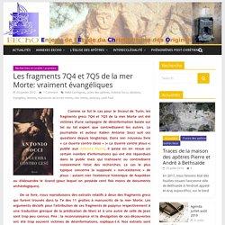 Les fragments 7Q4 et 7Q5 de la mer Morte: vraiment évangéliques
