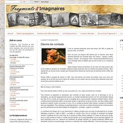 Fragments d'Imaginaires: Décrire les combats