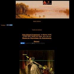 Jean-Honore Fragonard,Le Baiser Vole, Rococo,analyse et etude de la toile et du style,signification de la toile,art,culture,peinture