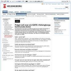 Frågor och svar om GAFE i Helsingborgs kommunala skolor – Helsingborgs stad