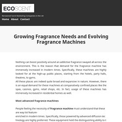Growing Fragrance Needs and Evolving Fragrance Machines