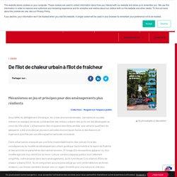 De l'îlot de chaleur urbain à l'îlot de fraîcheur - Agence d'urbanisme Bordeaux Aquitaine