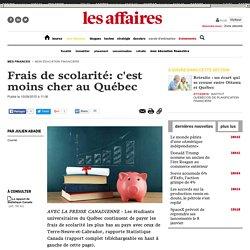Frais de scolarité: c'est moins cher au Québec