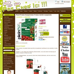 Plant'Fraise Suspension Fraise Jardin suspendu