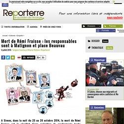 Mort de Rémi Fraisse: les responsables sont à Matignon et place Beauvau