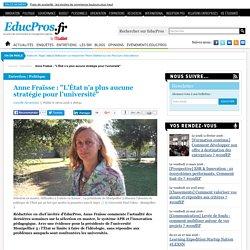 """Anne Fraïsse : """"L'État n'a plus aucune stratégie pour l'université"""""""