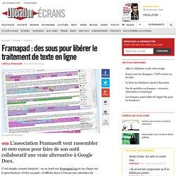 Framapad : des sous pour libérer le traitement de texte en ligne