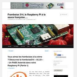 Vous aimez les framboises à la crème ? Découvrez la framboise314 «ALLO» : Un PABX Asterisk dans votre Raspberry Pi (Partie 1)