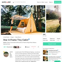 Star A Frame Tiny Cabin, Cedar Bloom, OR: 32 Hipcamper Reviews And 64 Photos