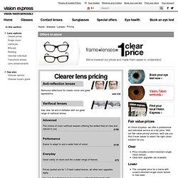 Frame + Lenses = 1 price at Vision Expres