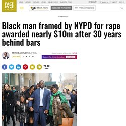 Black man framed by NYPD for rape awarded nearly $10m after 30 years behind bars